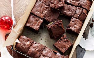 Festive brownies