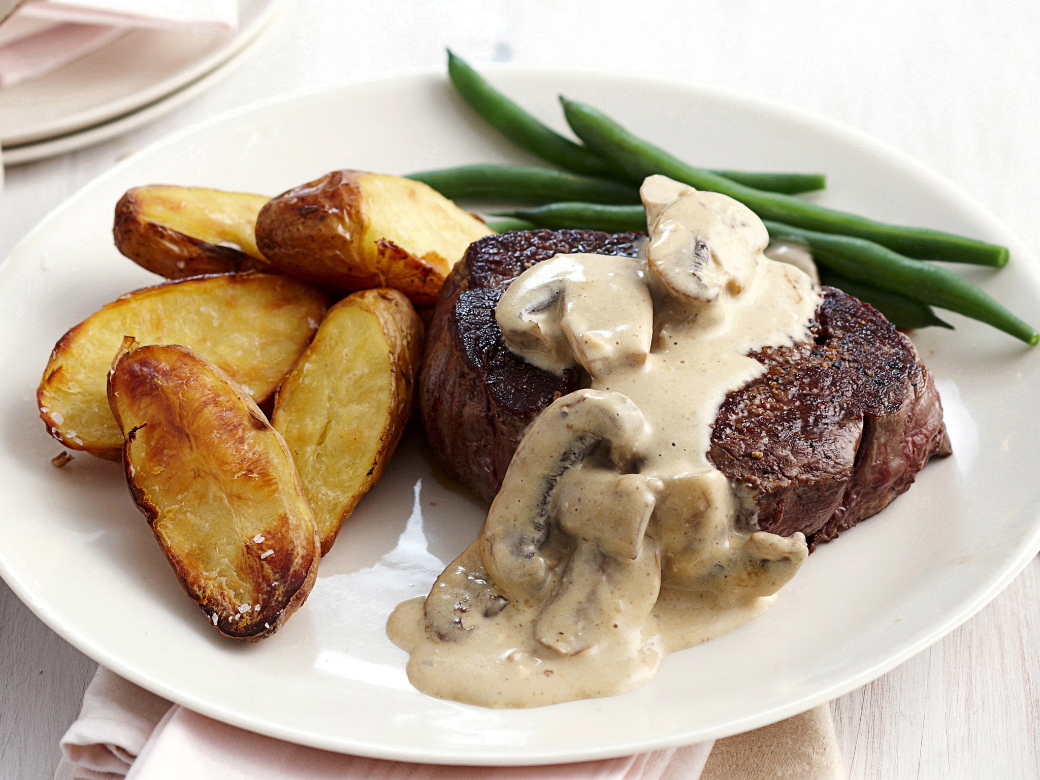 Fillet Steak With Mushroom Sauce Recipe Food To Love - 2048x1536 ...