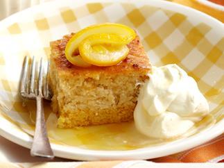 Flourless lemon and orange layer cake