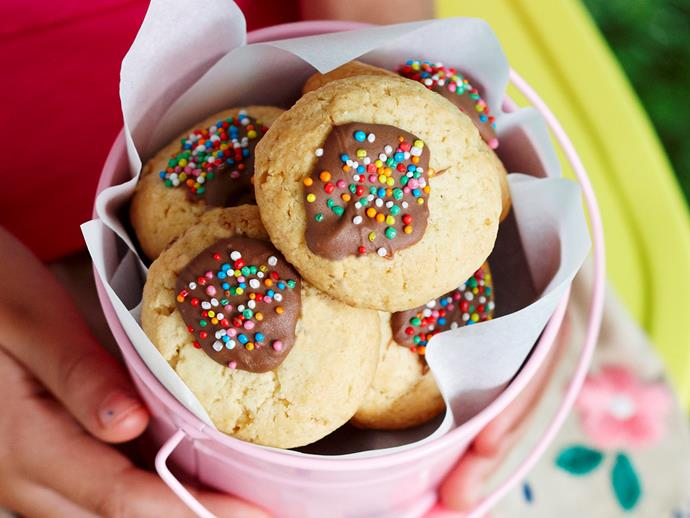 "[Freckle-top cookies](http://www.foodtolove.com.au/recipes/freckle-top-cookies-13275|target=""_blank"")."