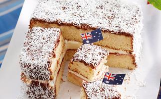 Australia day lamington recipe