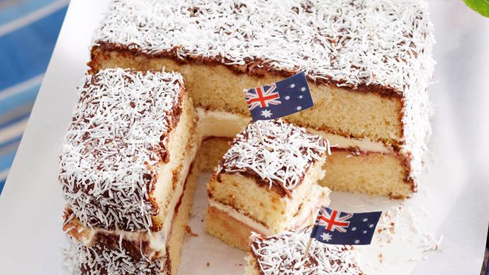 Australia day lamington recipe