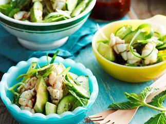 Green chilli calamari salad