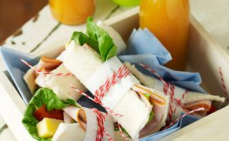 Ham and cheese roll-ups