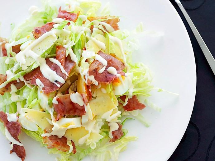 Iceberg, parmesan and prosciutto salad