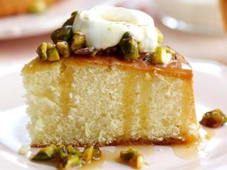 Orange Honey Syrup Cake