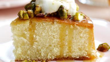 Cheat's orange honey syrup cake
