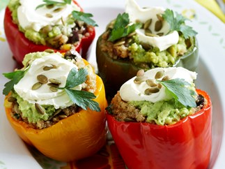 Quinoa and Corn Stuffed Capsicums