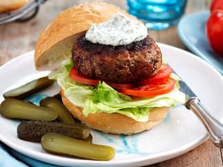 Ranch beef burgers