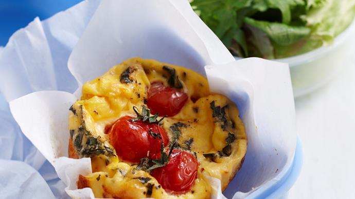 Ricotta, basil and tomato frittatas