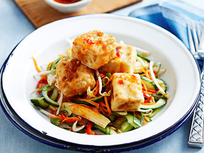 "[Salt and pepper tofu with sweet chilli salad](http://www.foodtolove.com.au/recipes/salt-and-pepper-tofu-with-sweet-chilli-salad-13800|target=""_blank"")"