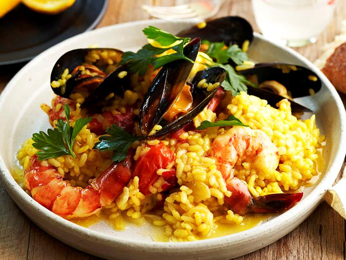 """**[Seafood risotto](https://www.womensweeklyfood.com.au/recipes/seafood-risotto-17248