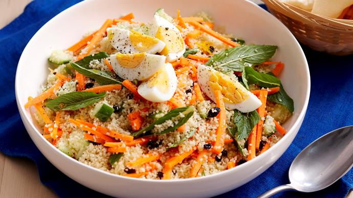 Spiced carrot and honey couscous