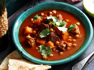 Spiced lamb and pumpkin soup