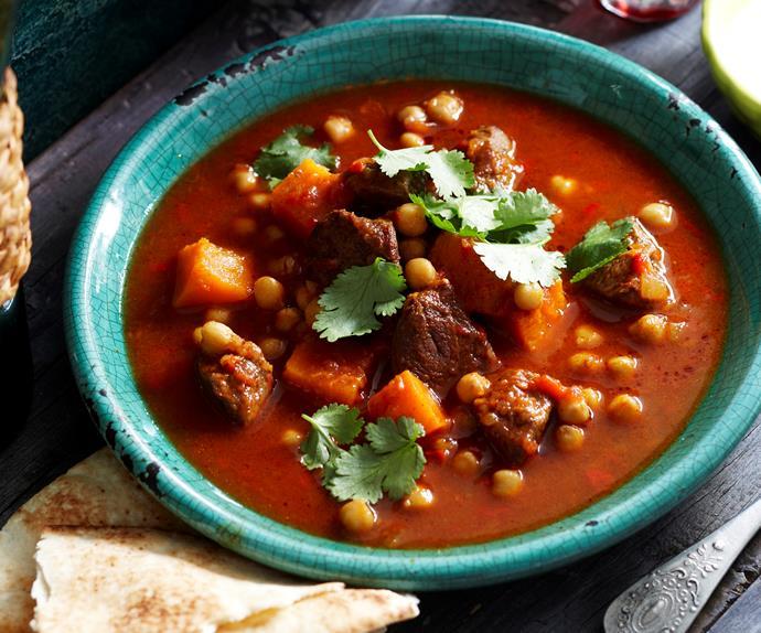 Spiced lamb and pumpkin soup
