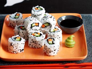 Spooky inside out sushi