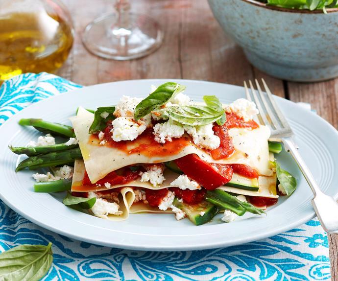Spring lasagne salad
