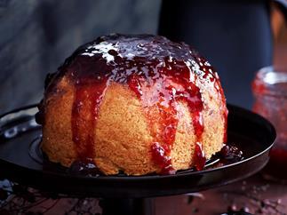 Steamed jam pudding