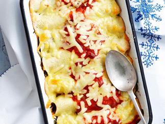 Stuffed polenta crepes