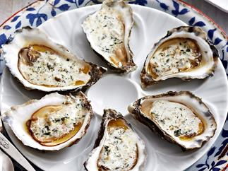 Tarragon butter with oysters
