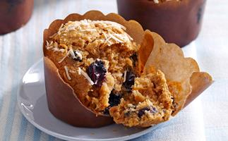 Blueberry, bran and coconut