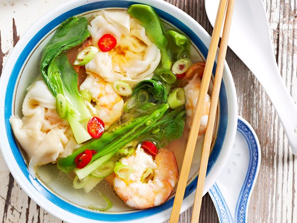 Dumplings in lemongrass broth
