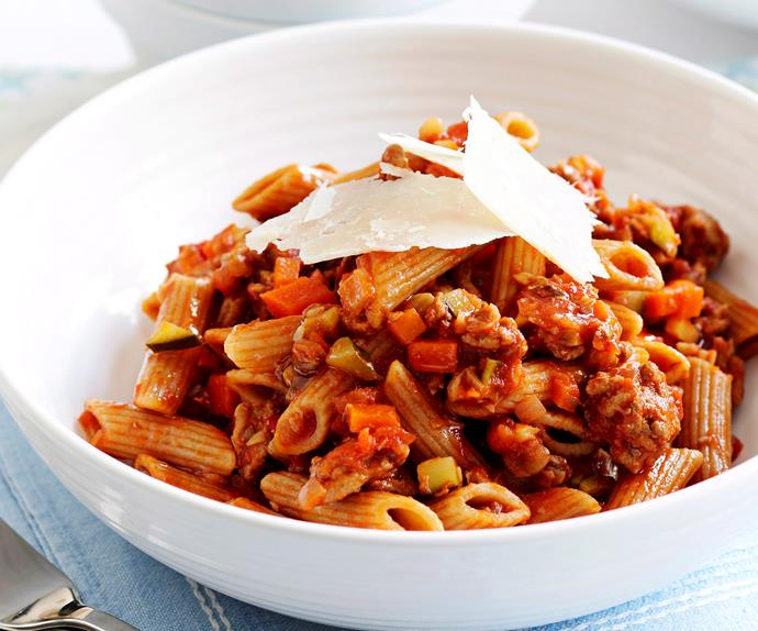 Healthy turkey bolognese