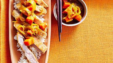 Japanese katsu pork curry
