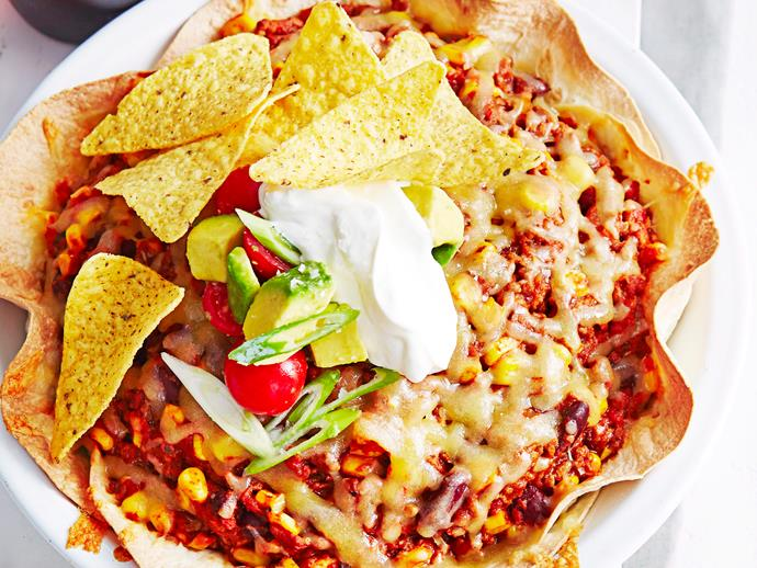 """**[Mexican beef pie](https://www.womensweeklyfood.com.au/recipes/mexican-beef-pie-27692