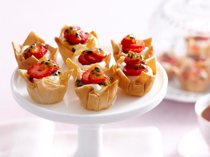 """**[Mini cream cheese tarts](https://www.womensweeklyfood.com.au/recipes/mini-cream-cheese-tarts-27503