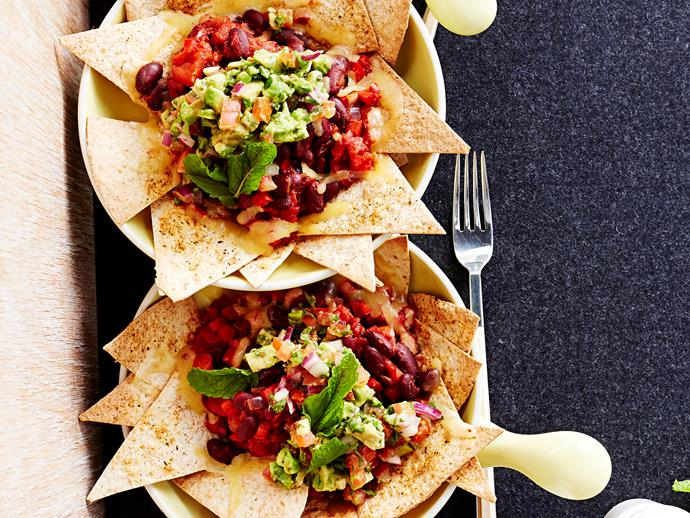 """Forget battles over the last corn chip thanks to these [nacho bowls](https://www.womensweeklyfood.com.au/recipes/nacho-bowls-16894