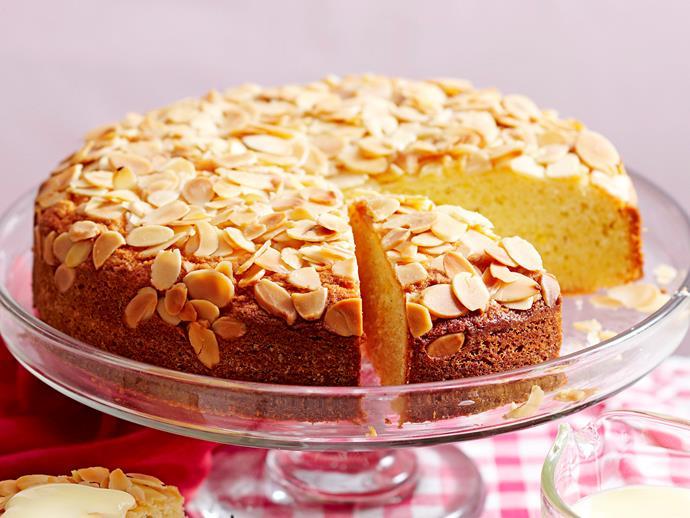 "**[Orange cardamom sour cream cake](https://www.womensweeklyfood.com.au/recipes/orange-cardamom-sour-cream-cake-16900 target=""_blank"")**"