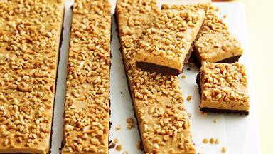 Peanut butter slice