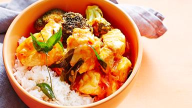 Tamarind and chilli fish curry