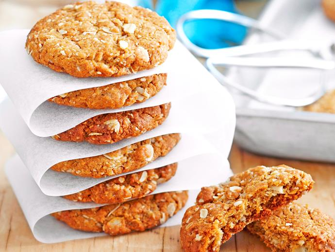 "[True blue ANZAC biscuits](http://www.foodtolove.com.au/recipes/true-blue-anzac-biscuits-14147|target=""_blank"")"