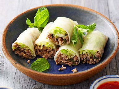 Turkey and lemongrass summer rolls