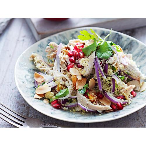 Pomegranate Chicken With Almond Couscous Recipe: Turkish Chicken Couscous Recipe