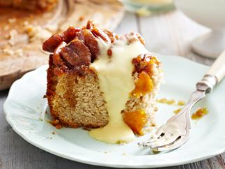 Upside-down pumpkin cake