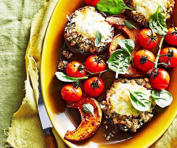 Vegetarian mushroom roast