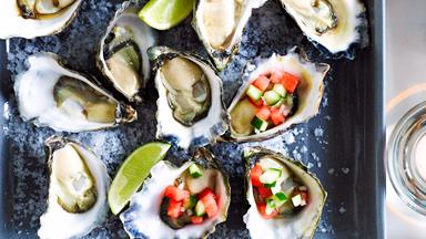 Watermelon and lime oysters