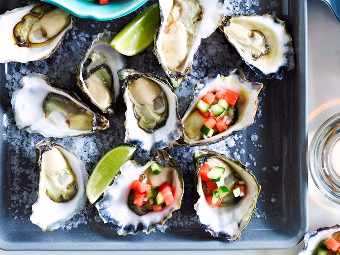 """[Watermelon and lime oysters](https://www.womensweeklyfood.com.au/recipes/watermelon-and-lime-oysters-16657