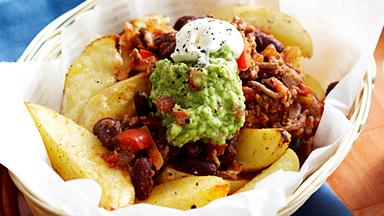 Wedges con carne