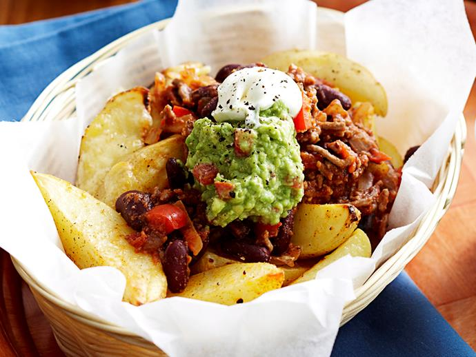 """[Wedges con carne recipe.](http://www.foodtolove.com.au/recipes/wedges-con-carne-16494 target=""""_blank"""")"""