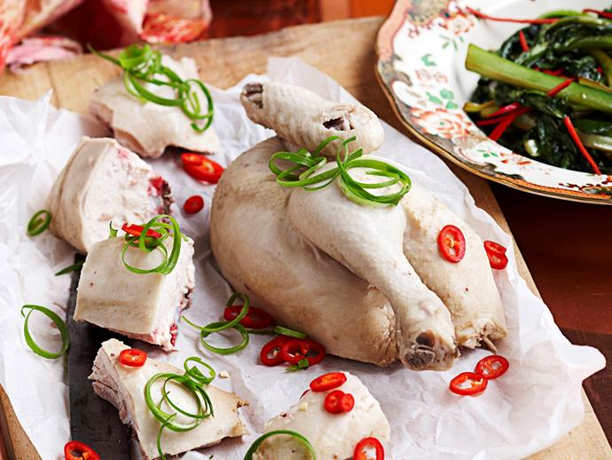 "[**White cooked chicken with ginger**](https://www.womensweeklyfood.com.au/recipes/white-cooked-chicken-with-ginger-rice-8757|target=""_blank""): A classic Cantonese dish of chicken poached in a seasoned stock with fragrant ginger."