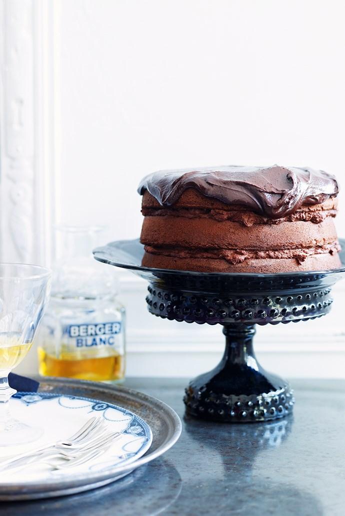 Luscious chocolate layer cake