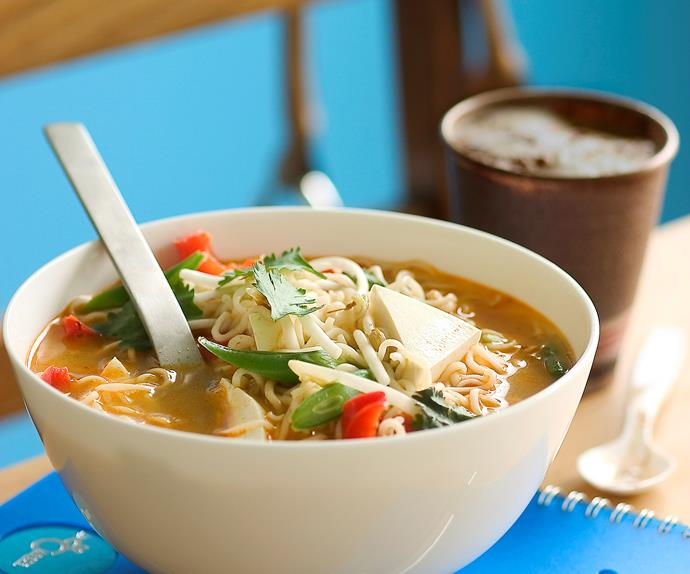 Spicy Asian Green Bean and Tofu Soup