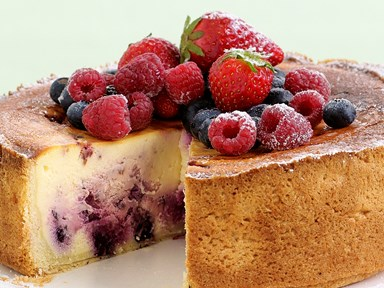 Berry ripple cheesecake