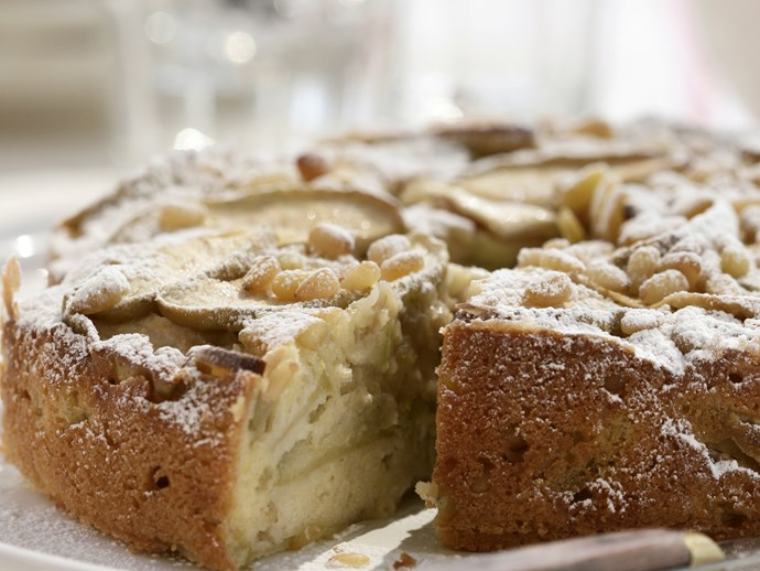Apple and Pine Nut Cake