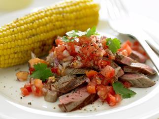 Argentine Steak with Salsa
