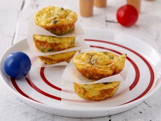 Cheesy frittatas